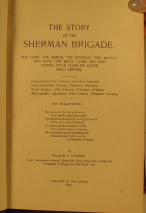 The Story of the Sherman Brigade.