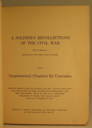 A Soldier's Recollections of the Civil War